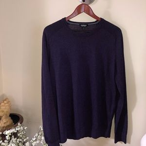 Express Men Crew Neck Sweater Purple